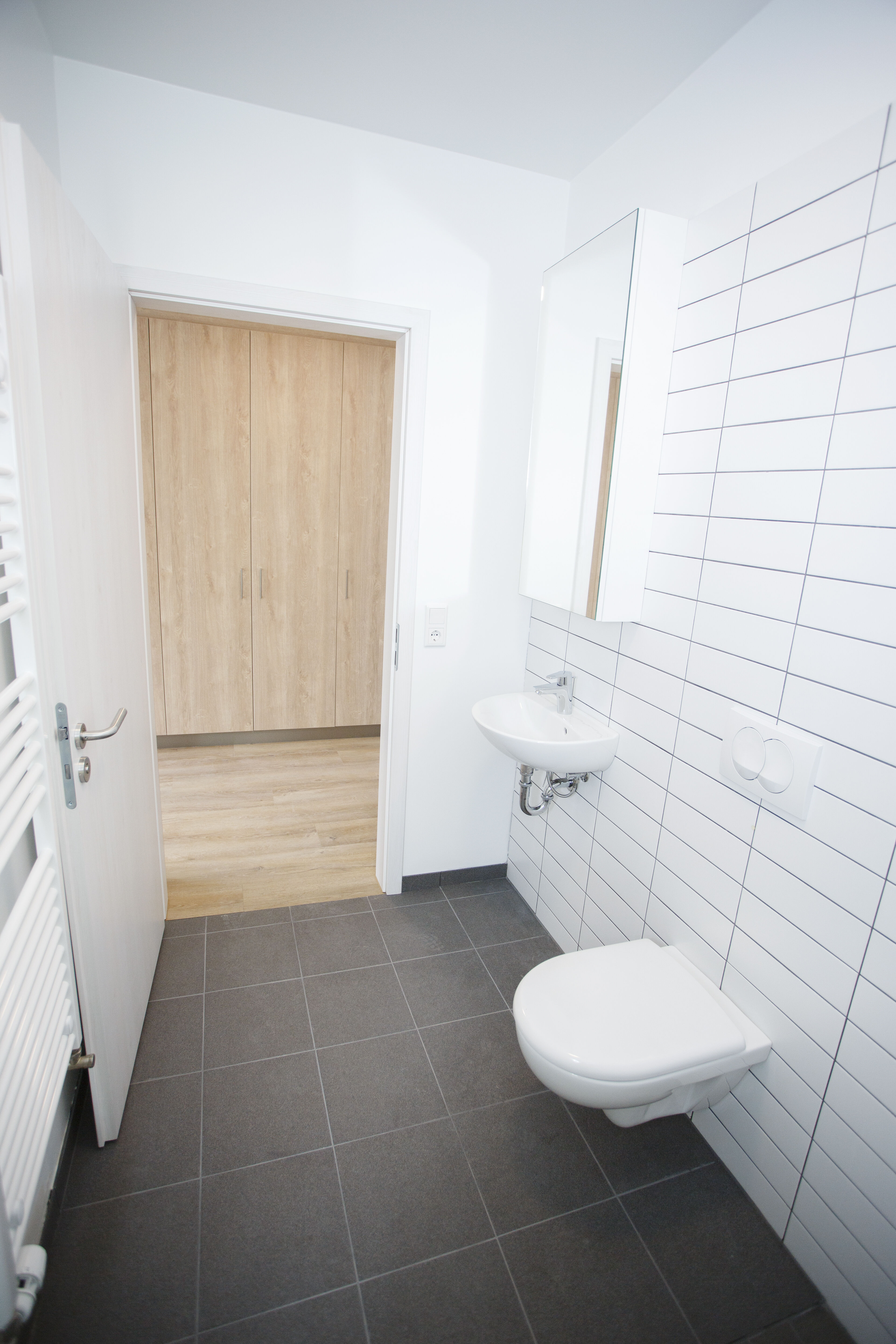 Private bathroom at Reykjavik University Student Housing